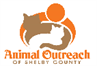 Animal Outreach of Shelby County (Shelbyville, Indiana) logo with cats