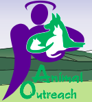 Animal Outreach of the Mother Lode (Diamond Springs, California) logo with cat, dog and angel