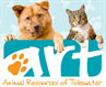 Animal Resources of Tidewater (Norfolk, Virginia) ART logo with dog, cat
