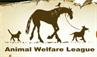 Animal Welfare League (Chicago Ridge, Illinois) logo with cat, horse, dog