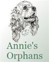 Annie's Orphans (Durango, Colorado) logo with a drawing of a cocker spaniel-type dog