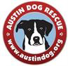 Austin Dog Rescue (Manchaca, Texas) logo with a black and white dog