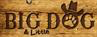 "Big Dog Ranch Rescue (Loxahatchee, Florida) logo on brown wood sign with tagline ""Big and small, we save them all!"""