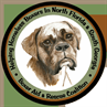 Boxer Aid and Rescue Coalition (Tallahassee, Florida) logo with brown boxer dog