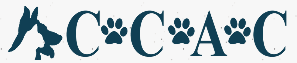 Concerned Citizens for Animal Care of Warren County (Warrenton, Missouri) logo with cat and dog head profile