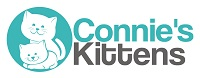Connie's Kittens (Cary, North Carolina) logo with kittens on green circle