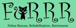 FURRR Feline Rescue (Gonic, New Hampshire) logo with letters and cat