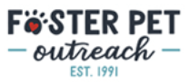Foster Pet Outreach (Edwards, Illinois) logo with organization name and paw print for letter O