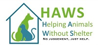 Helping Animal Without Shelter (Huntsville, Alabama) logo of dog cat in house