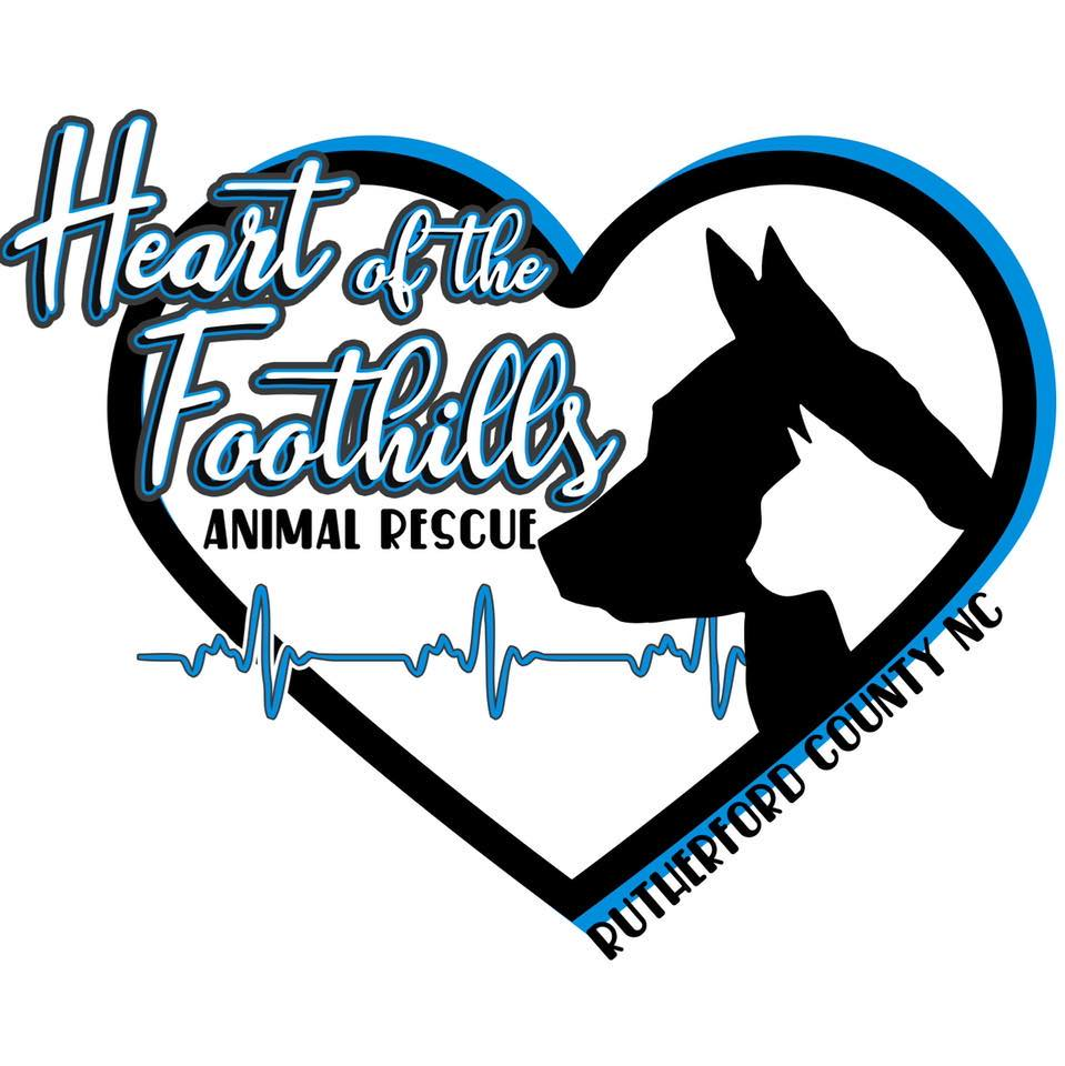 Heart of the Foothills Animal Rescue (Rutherfordton, North Carolina) logo dog and cat in heart