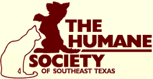 Humane Society of Southeast Texas (Beaumont, TX) logo of dog, cat and text