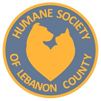 Humane Society of Lebanon County (Myerstown, Pennsylvania) logo is a heart made of a dog and a cat with the org name around it