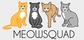 MeowSquad (Howard Beach, New York) logo with four cats above organization name