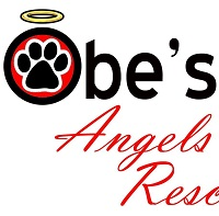 Obe's Angels Rescue (Dolores, Colorado)  of circle, red, paw print, yellow halo, Obe's Angels Rescue