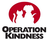 Operation Kindness (Carrollton, Texas) of red circle, white cat and dog silhouette, operation kindness
