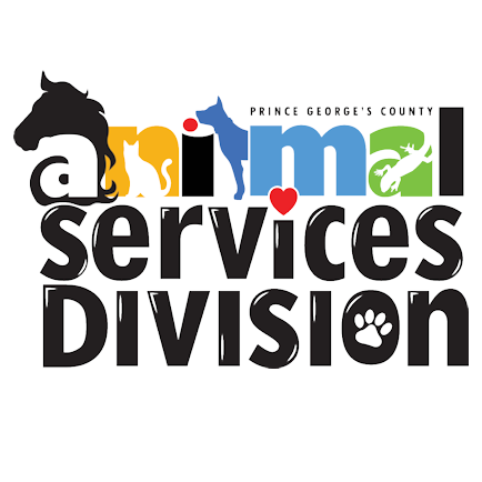 Prince George's County Animal Services Division (Upper Marlboro, Maryland) logo dog cat horse lizard on words