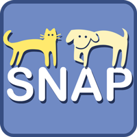 Spay & Neuter Action Program SNAP (Las Cruces, New Mexico) | logo of yellow cat, dog, blue text SNAP Spay Neuter Action Program