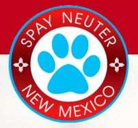 Spay Neuter Coalition of New Mexico (Los Lunas, New Mexico) | logo of blue paw print, red circle, spay neuter New Mexico