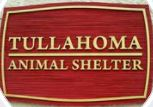 Tullahoma Animal Shelter, (Tullahoma, Tennessee) logo text tan with red background