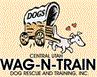 Central Utah Wag-N-Train (Ephraim, Utah) logo has a dog pulling a covered wagon