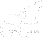 Cat's Cradle of the Shenandoah Valley (Harrisonburg Virginia) logo with two cats