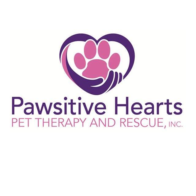 Pawsitive Hearts Pet Therapy and Rescue Inc (Reading, Pennsylvania) logo pawprint in heart