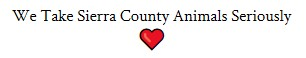 Sierra County Animal Rescue Society (Williamsburg, New Mexico) logo we take sierra county animals seriously heart
