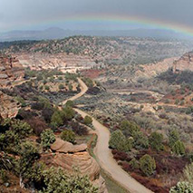 Rainbow over Angel Canyon