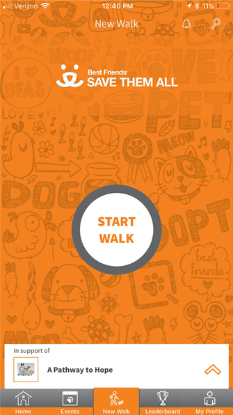 Download the resQwalk App - Screen 1