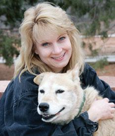 Elemetary school teacher Kim Johnston and dog