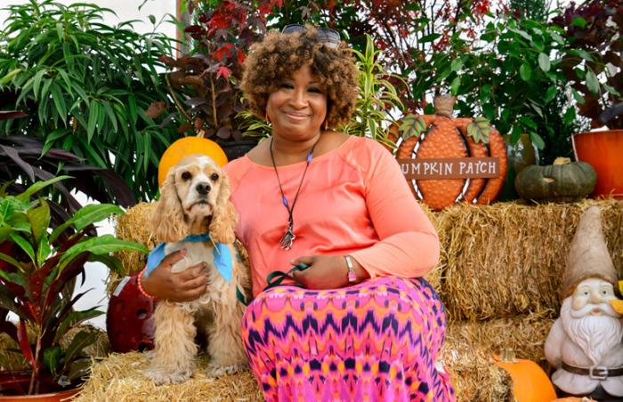 Andy the cocker spaniel and Donna, a match made in heaven