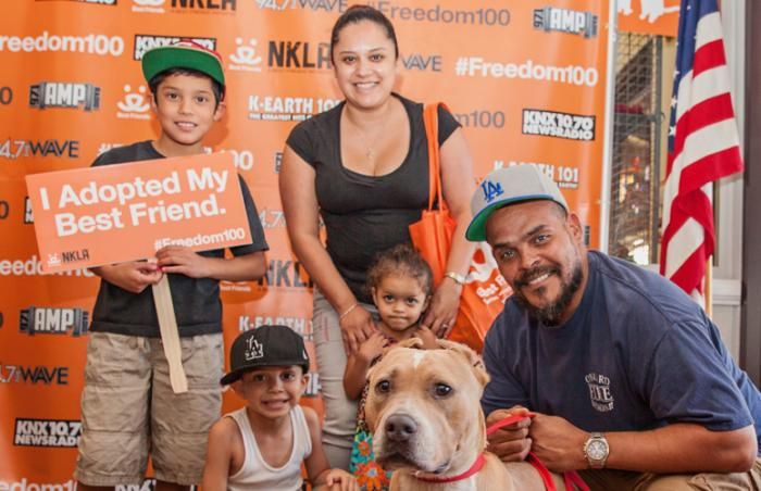 Adding to the family at the Los Angeles #Freedom100 adoption event