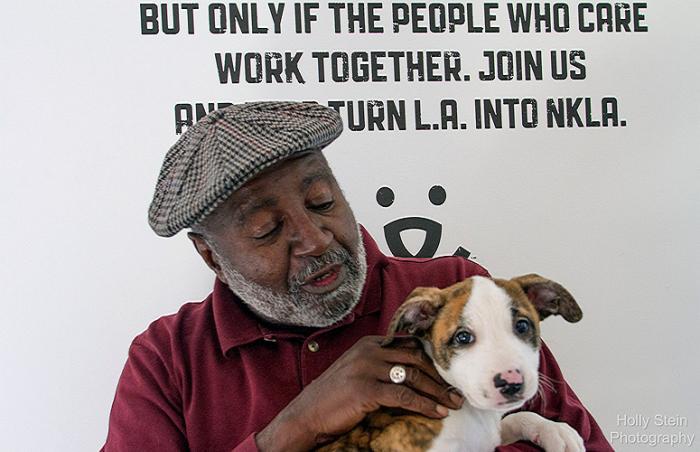 Military veteran Bilar Abdul Hasan at the NKLA Pet Adoption Center