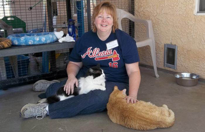 Janice Sledge at Cat World at Best Friends
