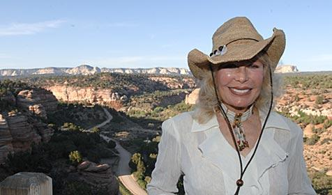MASH star and animal activist Loretta Swit at Best Friends Animal Sanctuary in Utah