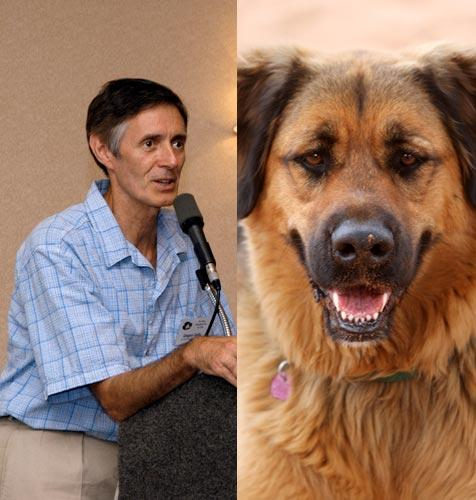 Gregory Castle, CEO of Best Friends Animal Society, and dog
