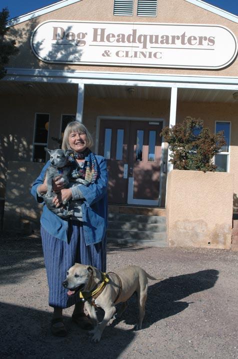 Ulla Pedersen standing in front of Dog Headquarters