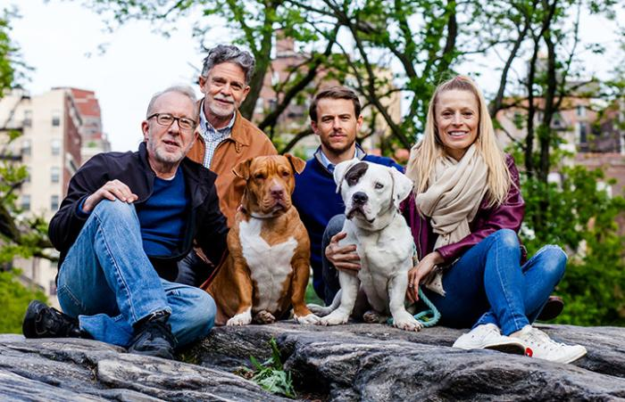 Slick and Emma the pit bull terriers have a reunion with their families