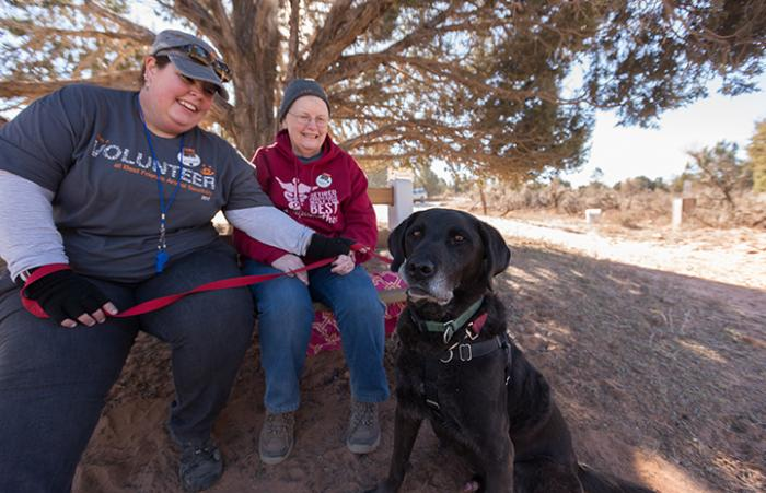 Mother and daughter take third destination vacation to the Sanctuary in Utah to volunteer with pets after Mom beats cancer