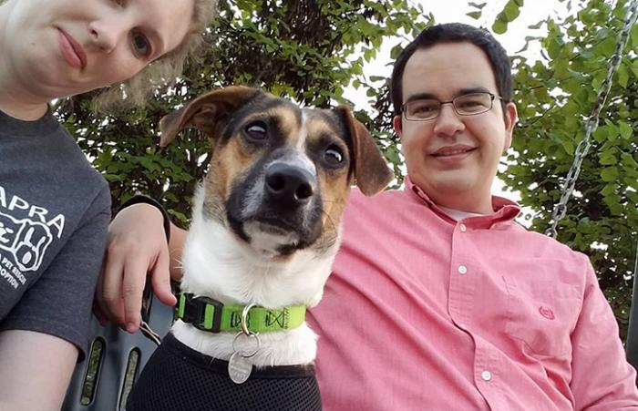 Erin and Eric Granados, a married couple volunteers to help the animals at Best Friends in Atlanta, foster senior dogs and more