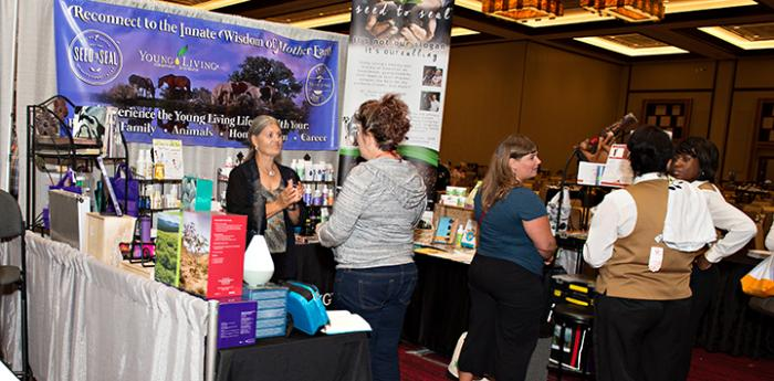 Exhibit booth at the Best Friends National Conference