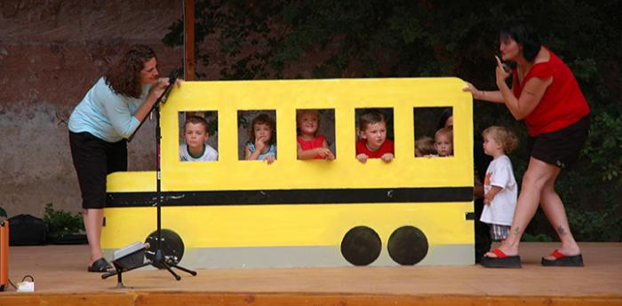 The wheels of the bus go round and round at the 2009 Best Friends No Talent Talent Show