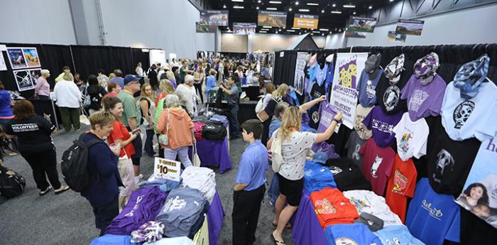 Exhibit hall at the Best Friends National Conference