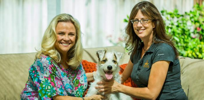 Suzanne Browning and Michelle Sathe of Best Friends Animal Society kicked off Adopt-a-Shelter-Dog month