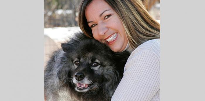 Vicki Kilmer and dog
