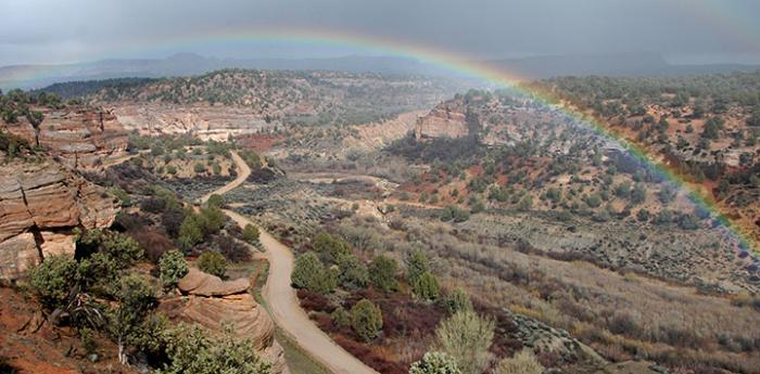 Rainbow over Angel's Rest