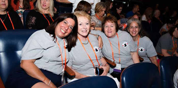 Four women in the audience of a Best Friends National Conference seminar