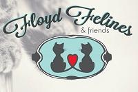 Floyd Felines (Rome, Georgia) logo with 2 cats and a heart