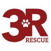 3R Rescue (Winters, California) logo with 3R Rescue and paw print