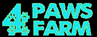4 Paws Farm logo with the number 4 and pawprints